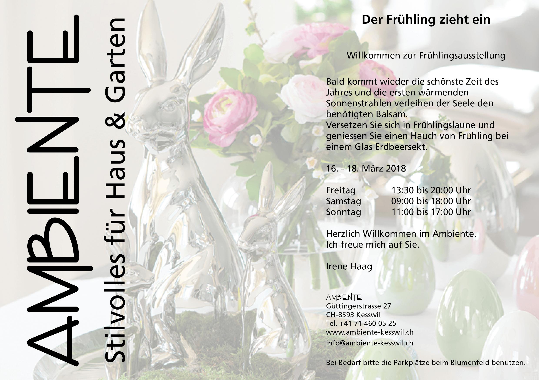 Einladung zur Frühlingsausstellung 2018